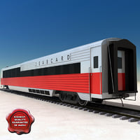 realistic passenger wagon 3d model