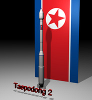 3d model taepodong 2 north korean