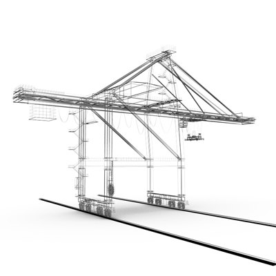 3d model gantry crane - Gantry crane 01 by 3DRivers... by 3DRivers
