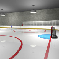 3d model hockey rink arena