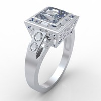 princess cut diamond ring 3ds