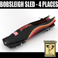 3d bobsleigh sled - 4 model
