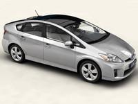 3d max toyota prius 2010 interior car