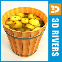 3ds barrel apples