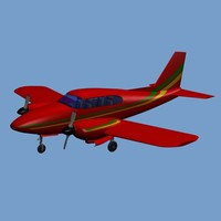 piper aztec airplane 3ds