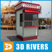 3d model theme park box office