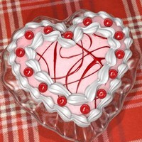 san valentine strawberry cake 3d model
