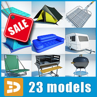 Camping equipment collection by 3DRivers