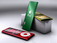 3d ipod nano player camera