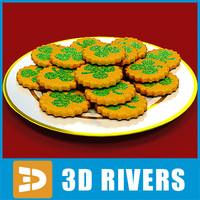 3d shamrock cookies model