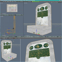 free water fountain 3d model