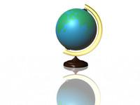 3d model classroom globe