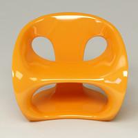 3d model hara chair design