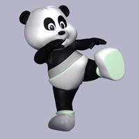 3ds max panda baby character