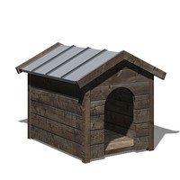 3d dog kennel model