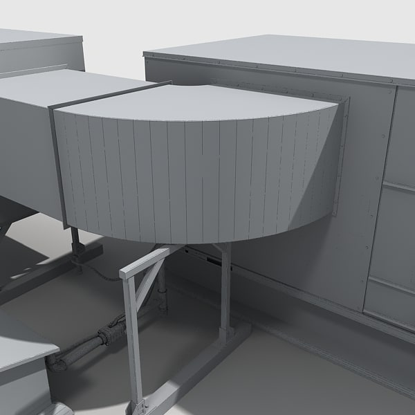 Rooftop Units Duct : D rooftop hvac cooler ductwork