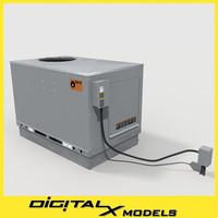 rooftop hvac cooler 3d model