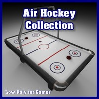 Low Polygon Air Hockey Collection