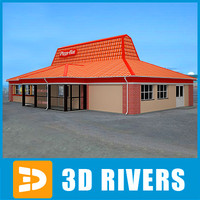 3d model fast food pizza hut