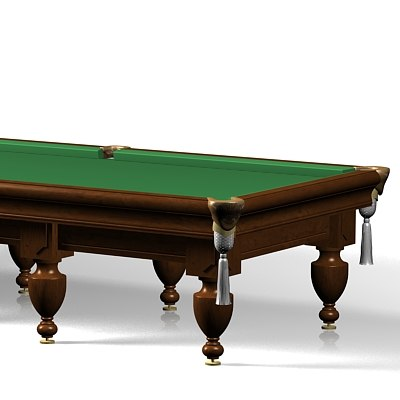 russian billiards table 3d model