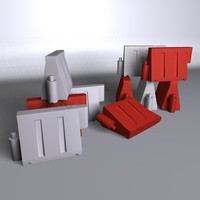 3d model of roadblock crash