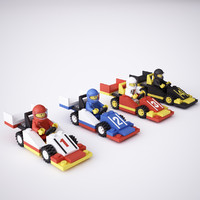 3d model lego race cars