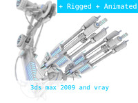 3d model robotic arms weapons -