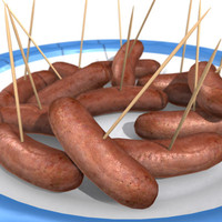 3d sausage stick