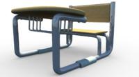 3d school desk