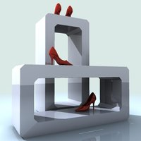 exposure female shoes 3d max