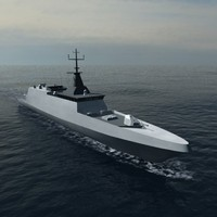 french corvette gowind combat 3d model