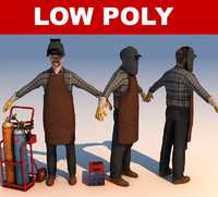 3ds max welder worker