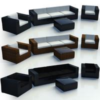 3d model bali loungegrupp