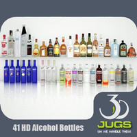 3DJug_01_Alcohol Bottles