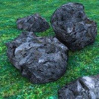 seamless rock 3d max