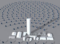3d solar power station model