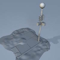 brocken street light 3d model