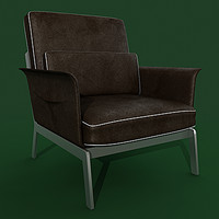 3d 3ds armchair flexform happy hour