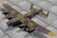 3d model avro lancaster bomber g-h