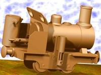 steam train engine 3d 3ds
