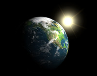 3d model photorealistic earth