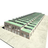 3d model of old factory
