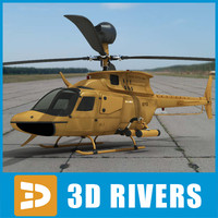 OH-58D Kiowa Warrior-desert by 3DRivers