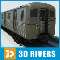 train city subway 3d model