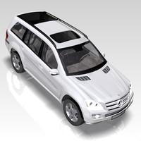 car mercedes gl class 3d model