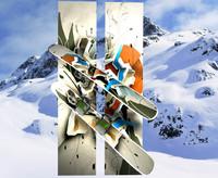 free snowboard studio 3d model