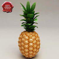 3ds max pineapple modelled