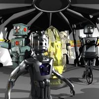 3ds max sci-fi scene robots