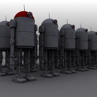 3d tin robot model