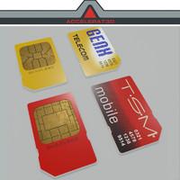 sim card 3d model